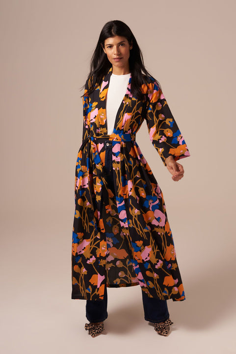 Gaby Duster in Silk Cotton | Dini's Citrus Floral