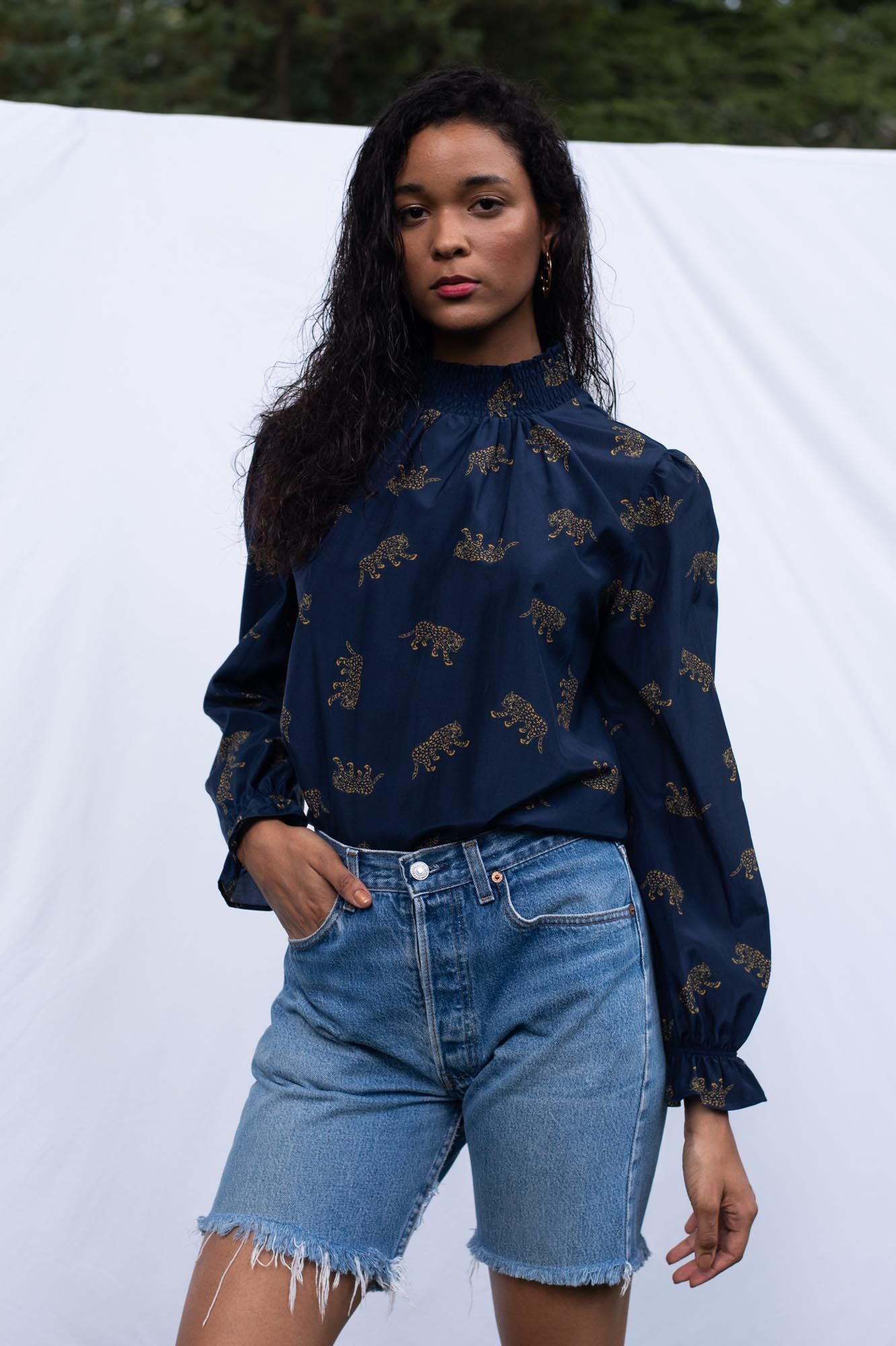 Stella Top | Midnight Leopards