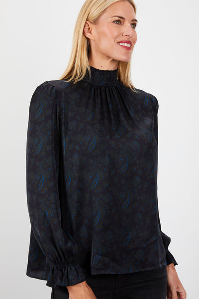 Stella Top | Midnight Paisley