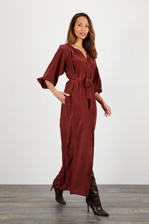 The Classic Maxi Dress | Merlot Waves