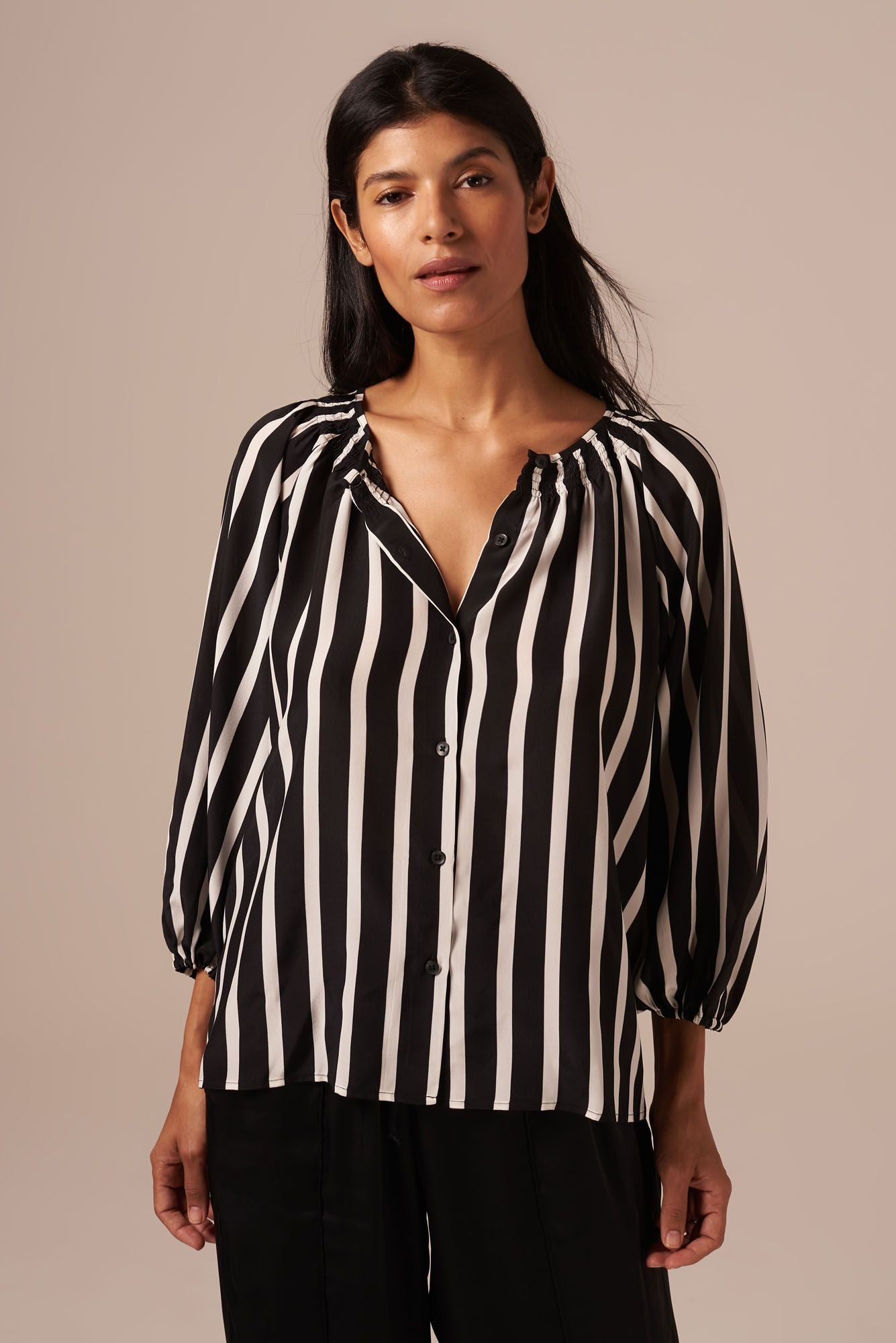 The Classic Blouse | Black Stripe