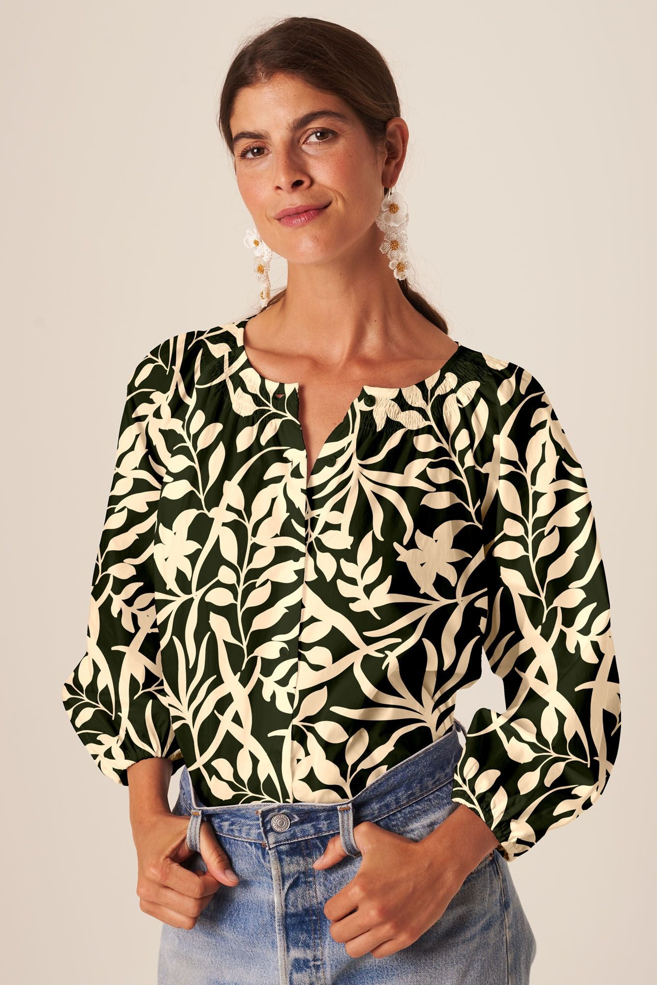 The Classic Blouse | Forest Figi Floral