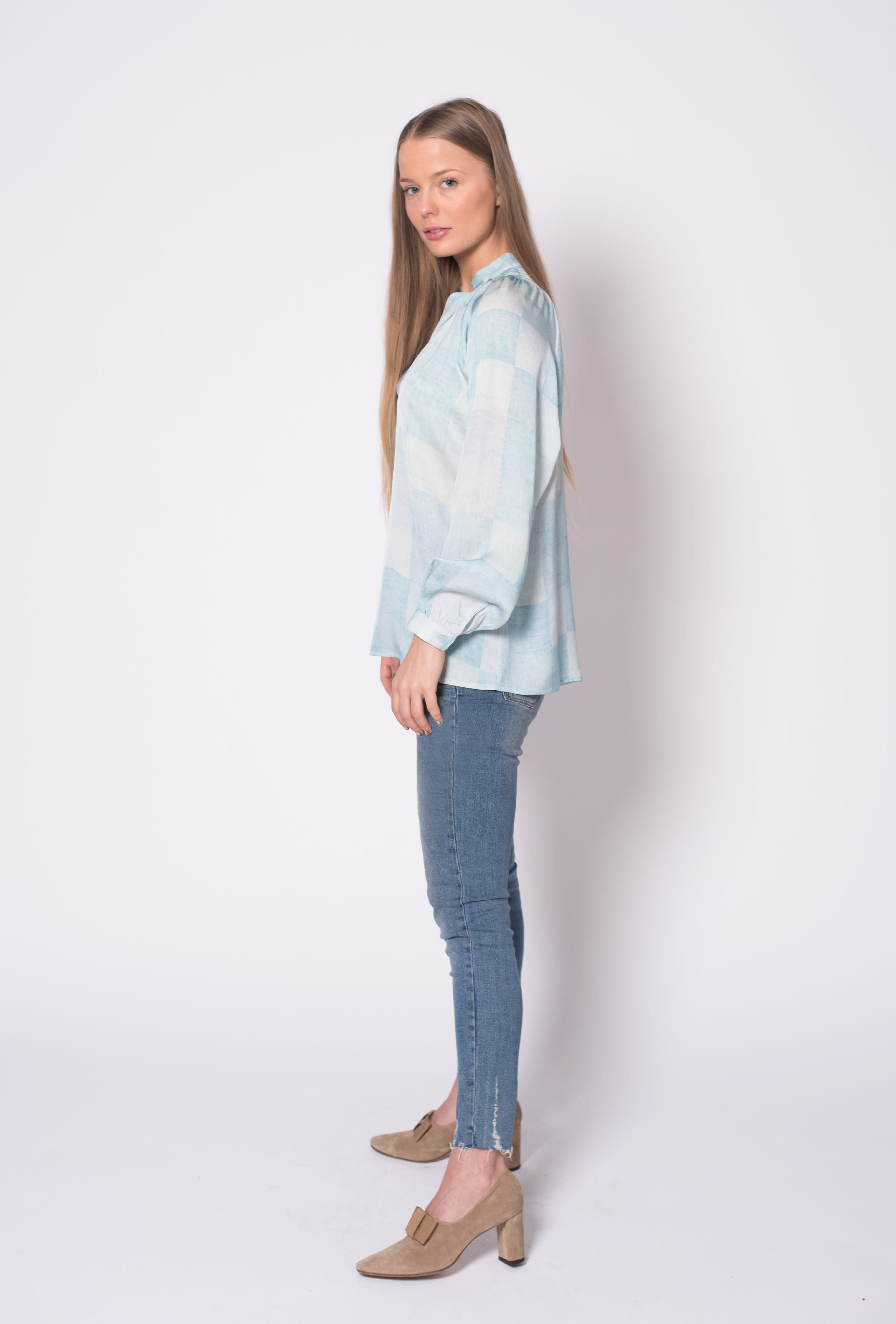 The Long Sleeve Polo Blouse | Pastel Pastiche