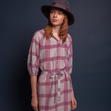 The Classic Knee Length Dress | Grey Plaid