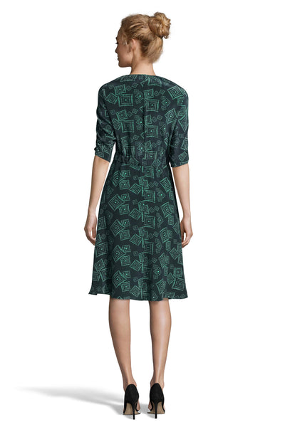 The Market Dress | Green Tonal Diamond