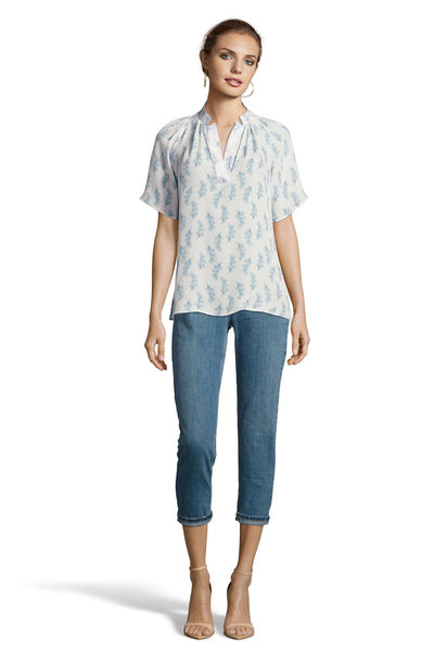 The Short Sleeve Polo Blouse