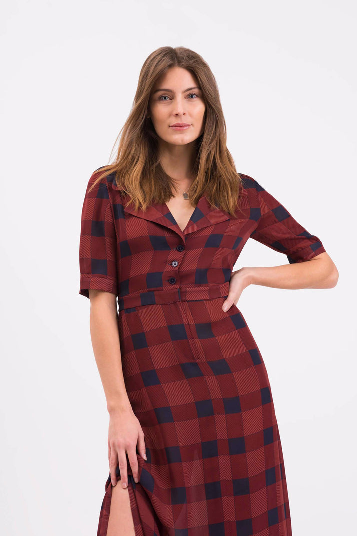 The Trench Dress | Mod Plaid