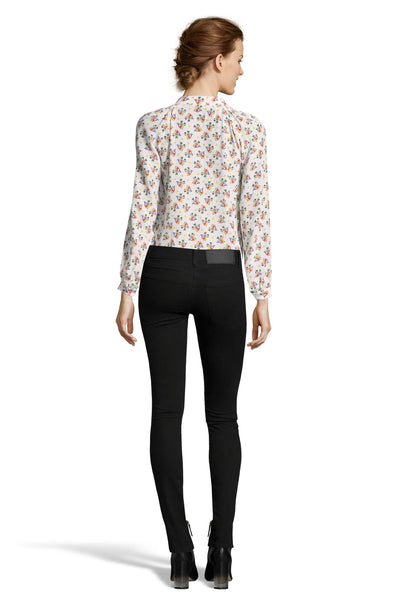 The Long Sleeve Polo Blouse | Gerda Floral