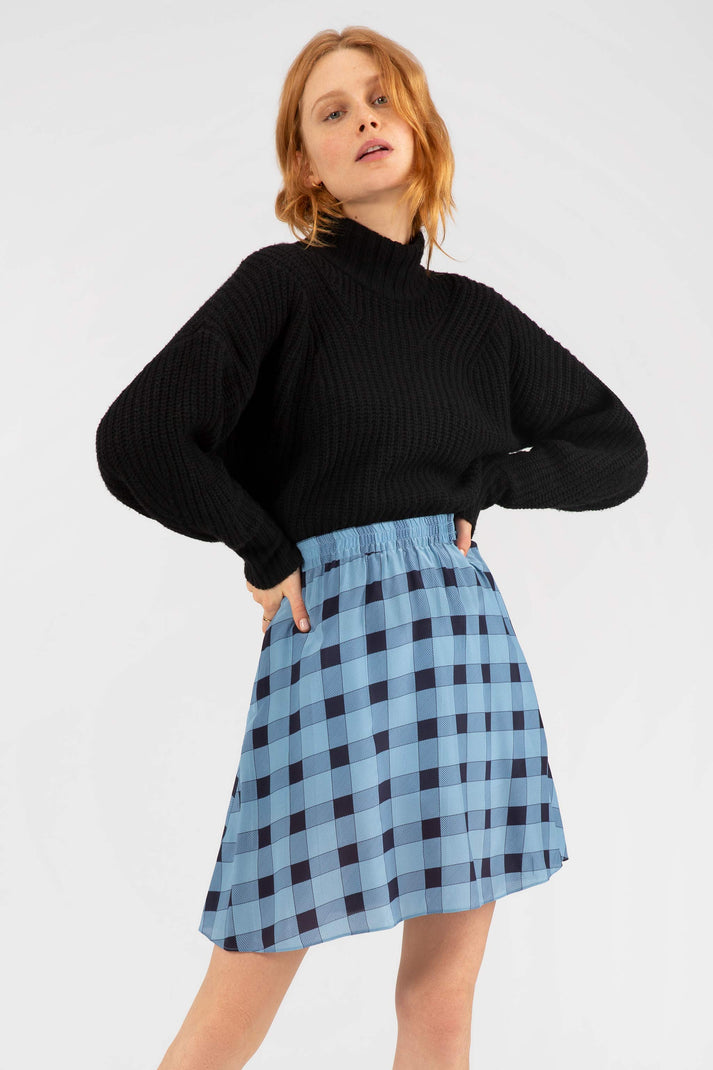 The Above the Knee Skirt | Picnic Plaid