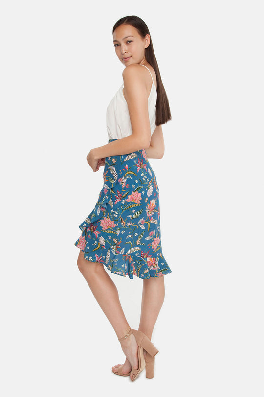 The Ruffle Midi Skirt  | Alice's Garden