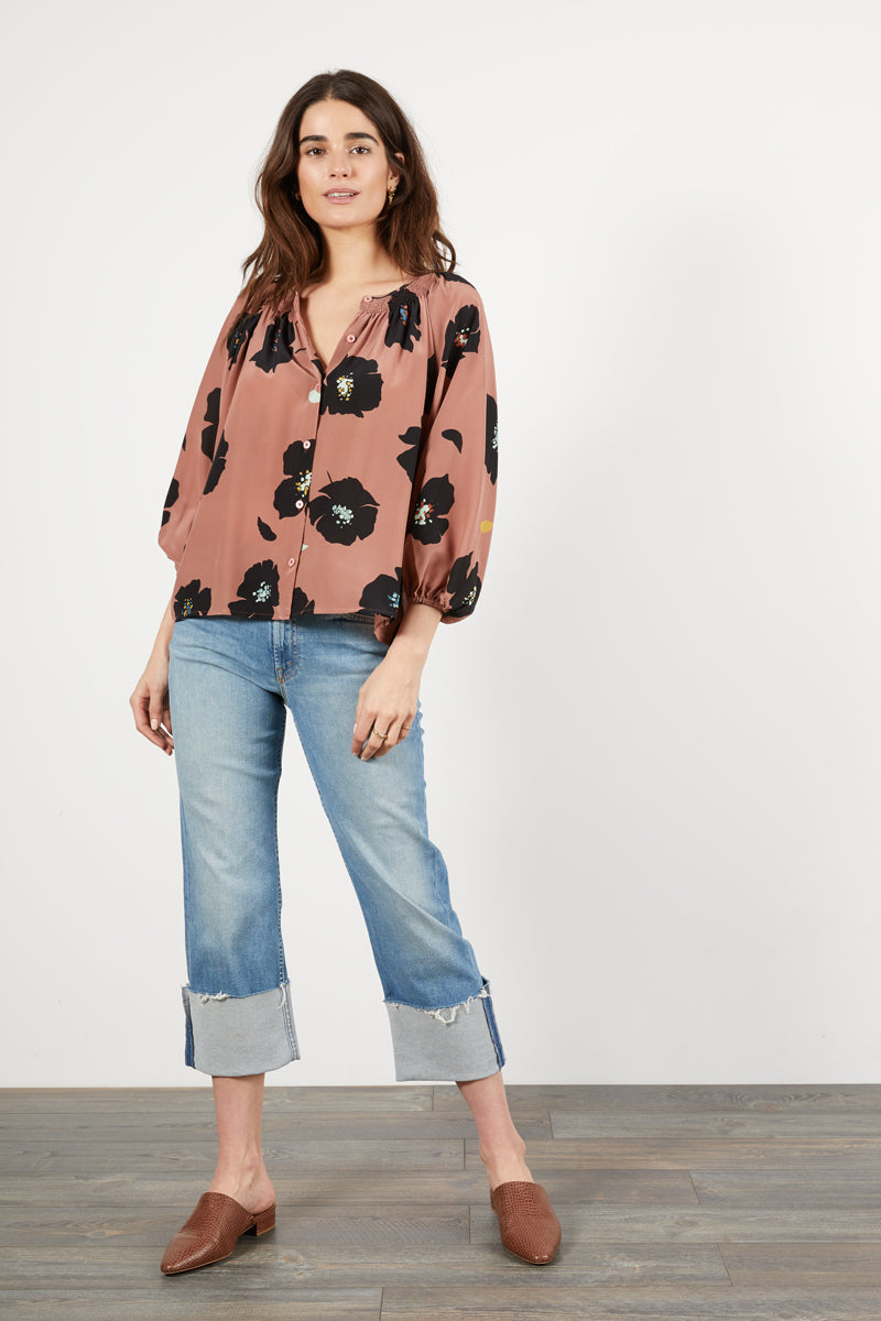 The Classic Blouse | Rose Shadow