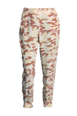 The Clean Cuffed Pants | Tan Camo