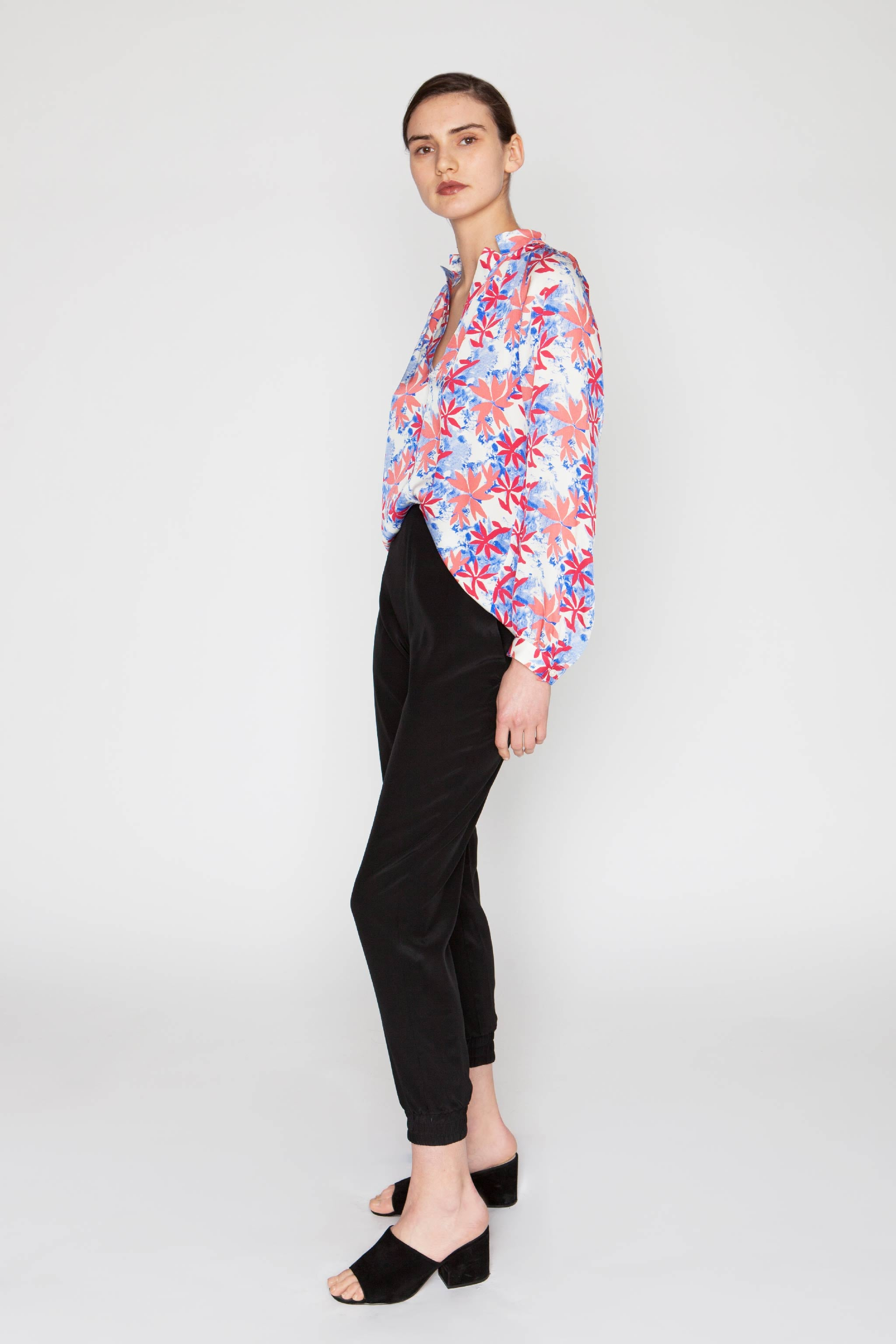 The Long Sleeve Polo Blouse | Tidy Tie-Dye