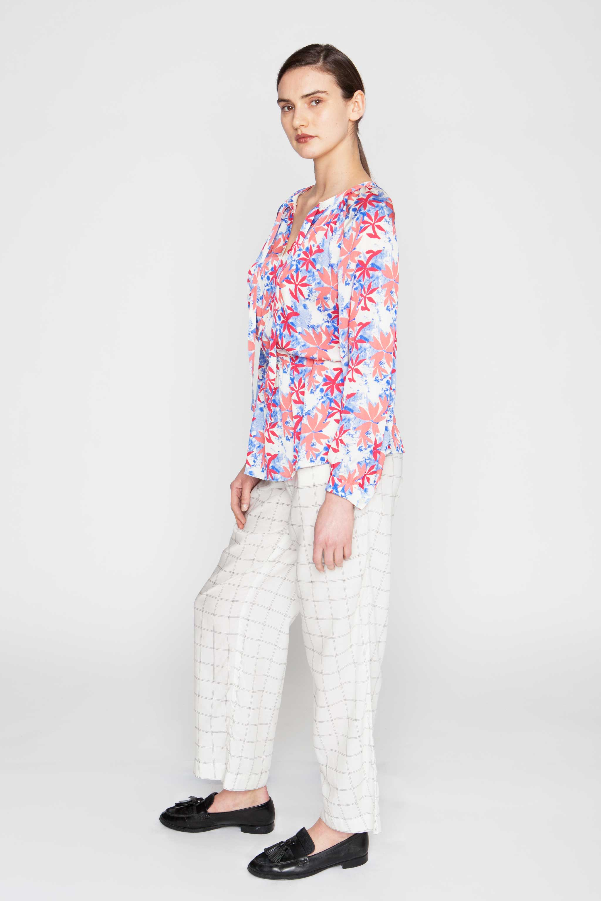 The Tie Neck Party Blouse | Tidy Tie-Dye