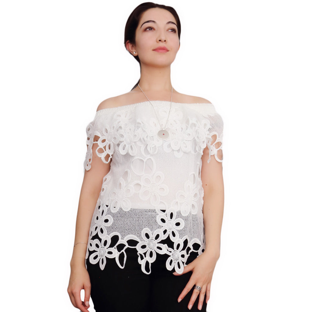 Lace off-shoulder top - Modgal