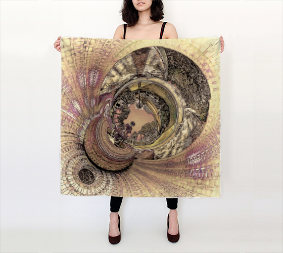 "Silk Scarf 36""x36""  