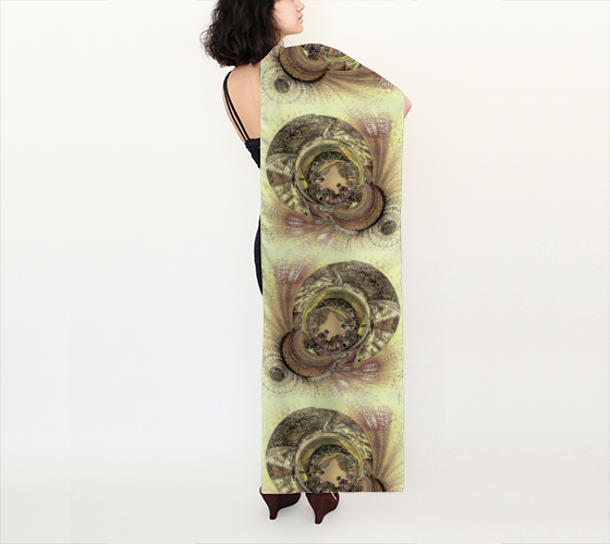 "AK02-065-AC:  Silk Scarf 16""x72"" 