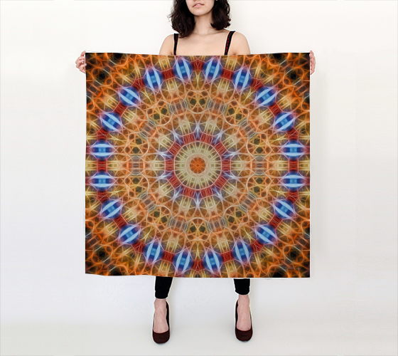 "AK02-071-AB:  Silk Scarf 36""x36"" 