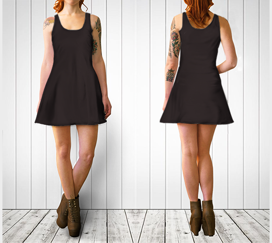 AK02-060-AI:  Flare Dress | Simply Solids™ - AggieLand Official Maroon