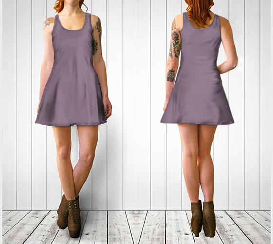 AK02-060-AH:  Flare Dress | Simply Solids™ - AggieLand Mauve