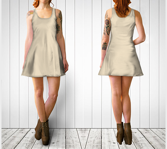 AK02-060-AE:  Flare Dress | Simply Solids™ - AggieLand Shiner Foam