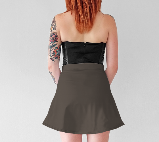 AK02-015-AB:  Flared Skirt | Simply Solids™ - AggieLand Taupe Gray