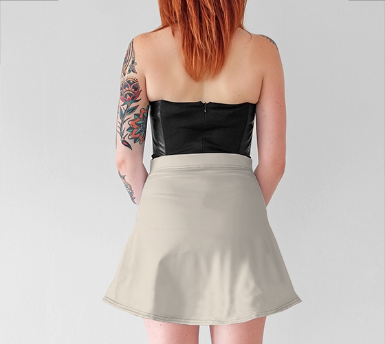 AK02-016-AA:  Flared Skirt | Simply Solids™ - AggieLand Winter Tan