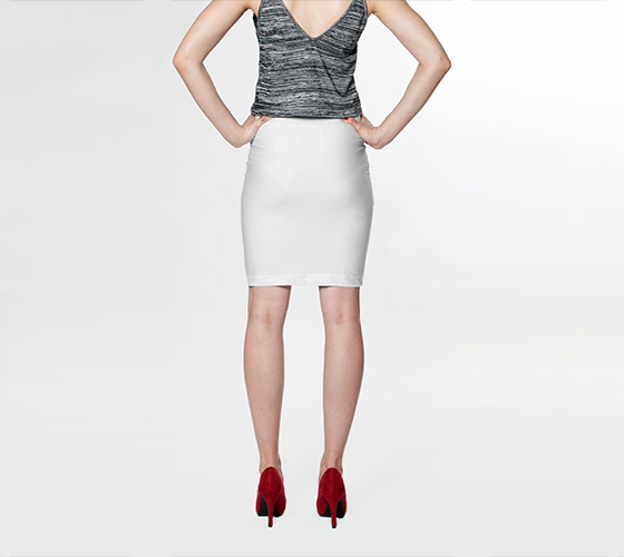 AK02-015-AG:  Fitted Skirt | Simply Solids™ - AggieLand Fabric White
