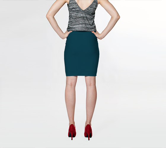 AK02-015-AD:  Fitted Skirt | Simply Solids™ - AggieLand Slate
