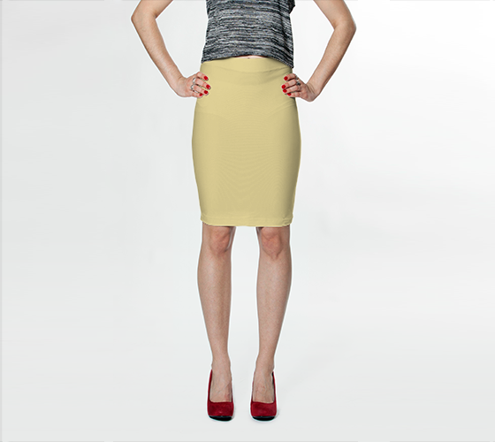 Fitted Skirt | Simply Solids™ - AggieLand Soft Yellow - AK02-015-AC