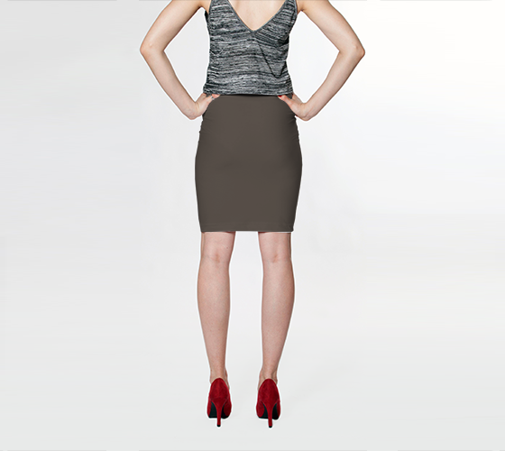 Fitted Skirt | Simply Solids™ - AggieLand Taupe Gray - AK02-015-AB