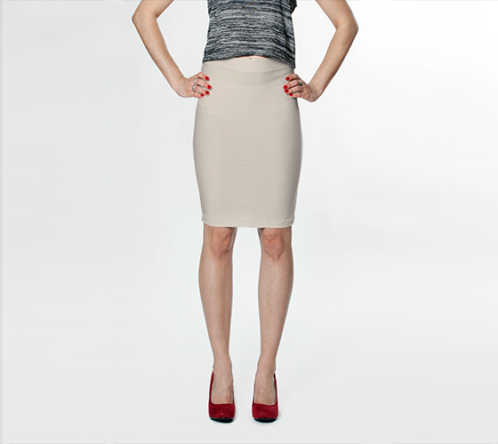 Fitted Skirt | Simply Solids™ - AggieLand Winter Tan AK02-015-AA