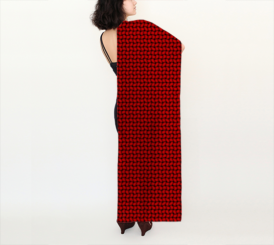 "AK02-007-AN:  Scarf 16""x72"" 