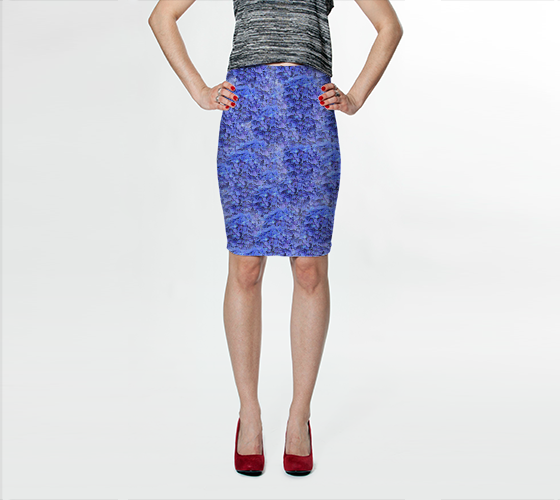 Fitted Skirt | Blue Hydrangeas #1 [BE25-002-001]