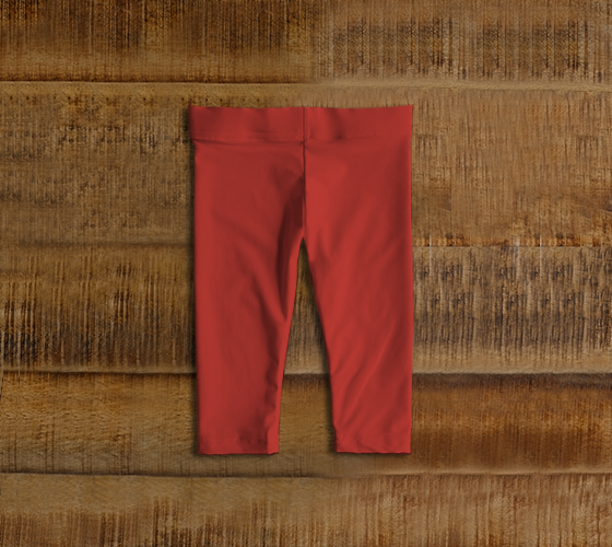 Baby Leggings  |  Simply Solids™ • Aurora Red
