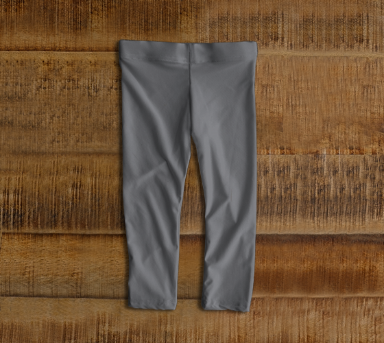Baby Leggings  |  Simply Solids™ • Sharkskin Gray