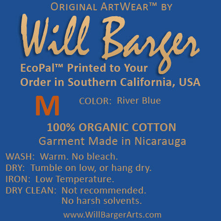Will Barger  Signature Line - Sample Tagless Printed Label