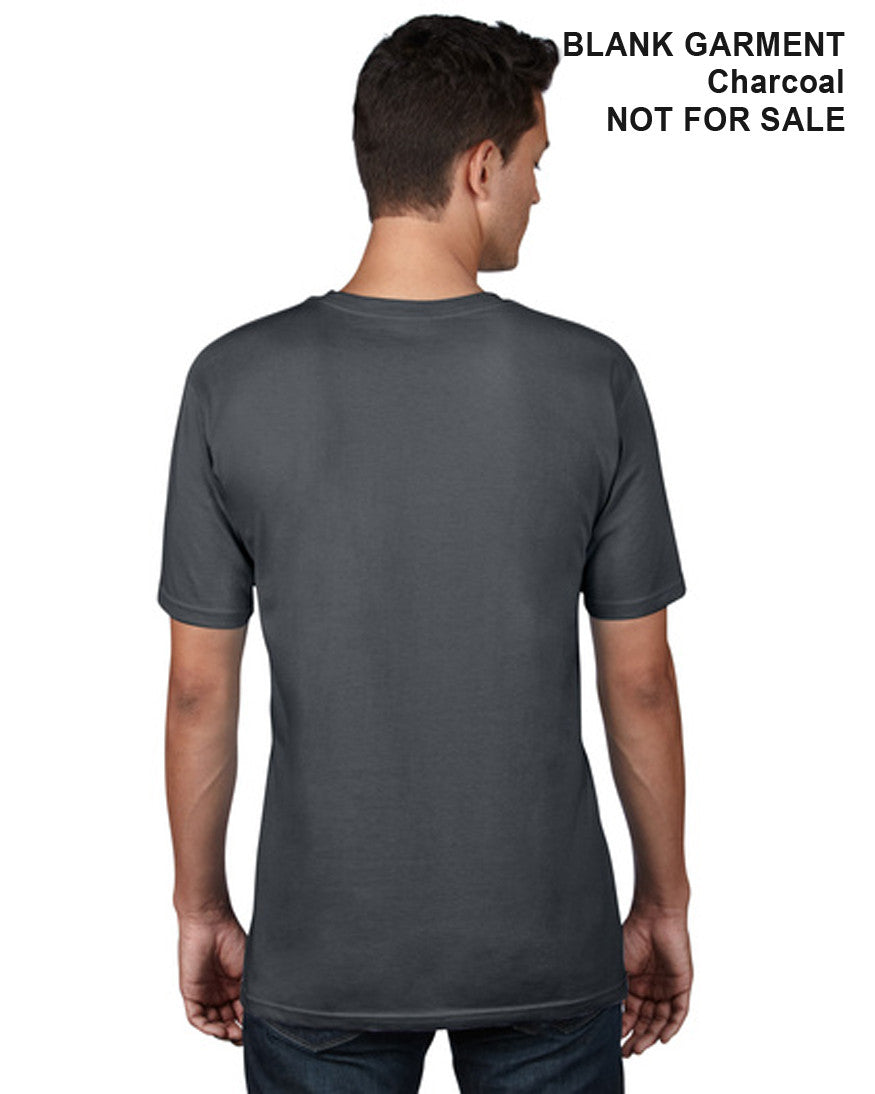 Adult Organic Cotton T-Shirt - Classic Cut - Back - Charcoal