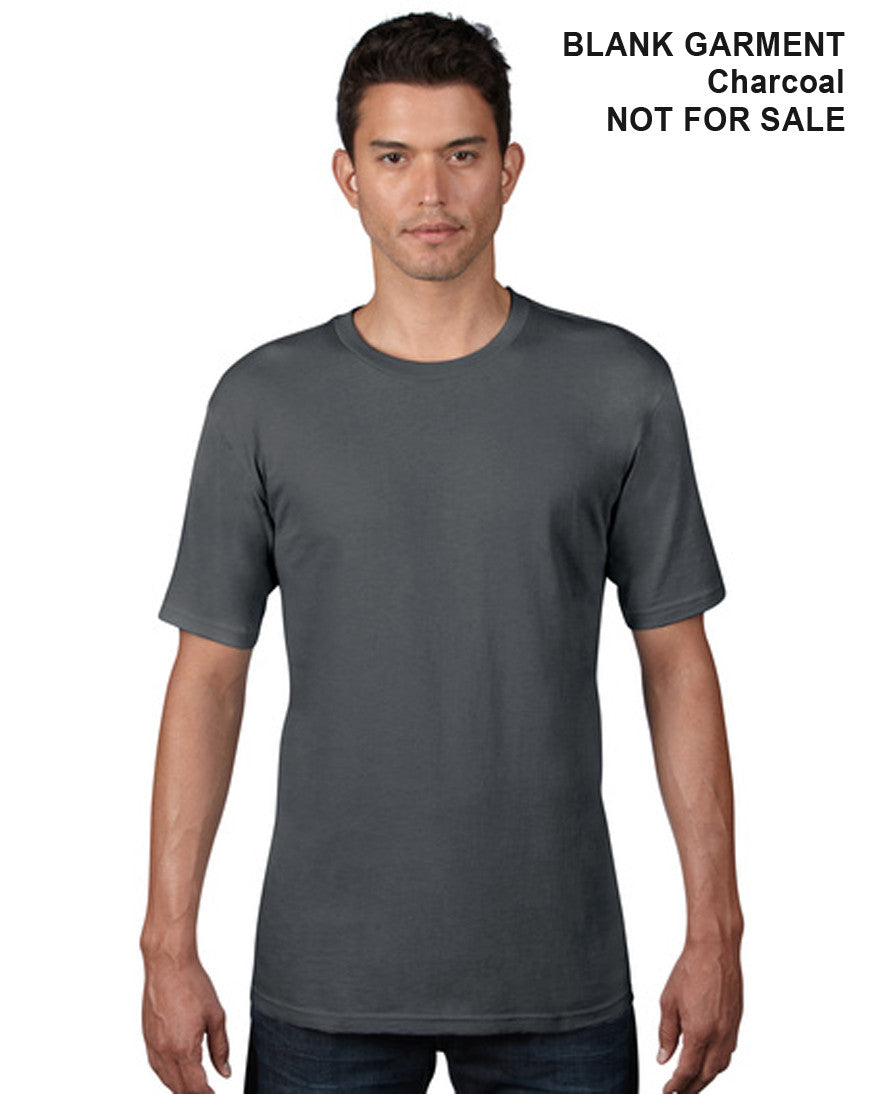 Adult Organic Cotton T-Shirt - Classic Cut - Front - Charcoal