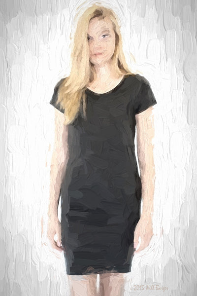 Catalog Image - Ladies' T-Shirt Dress - Bamboo & Organic Cotton - SKU: AI07-004