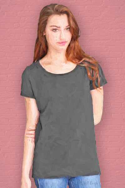 Catalog Image - Ladies' Scoop Neck T-Shirt - Bamboo & Organic Cotton - SKU: AI07-003