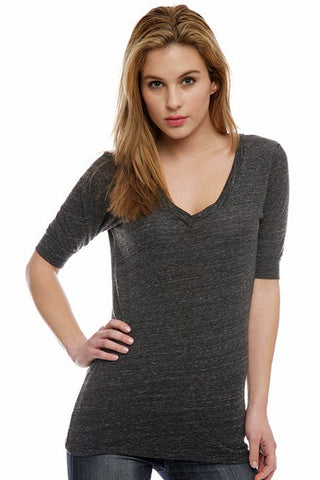 Catalog Image - Women's V-Neck Half-Sleeve Tunic - Gym Class Fabric - SKU:  AI08-003 - Will Barger