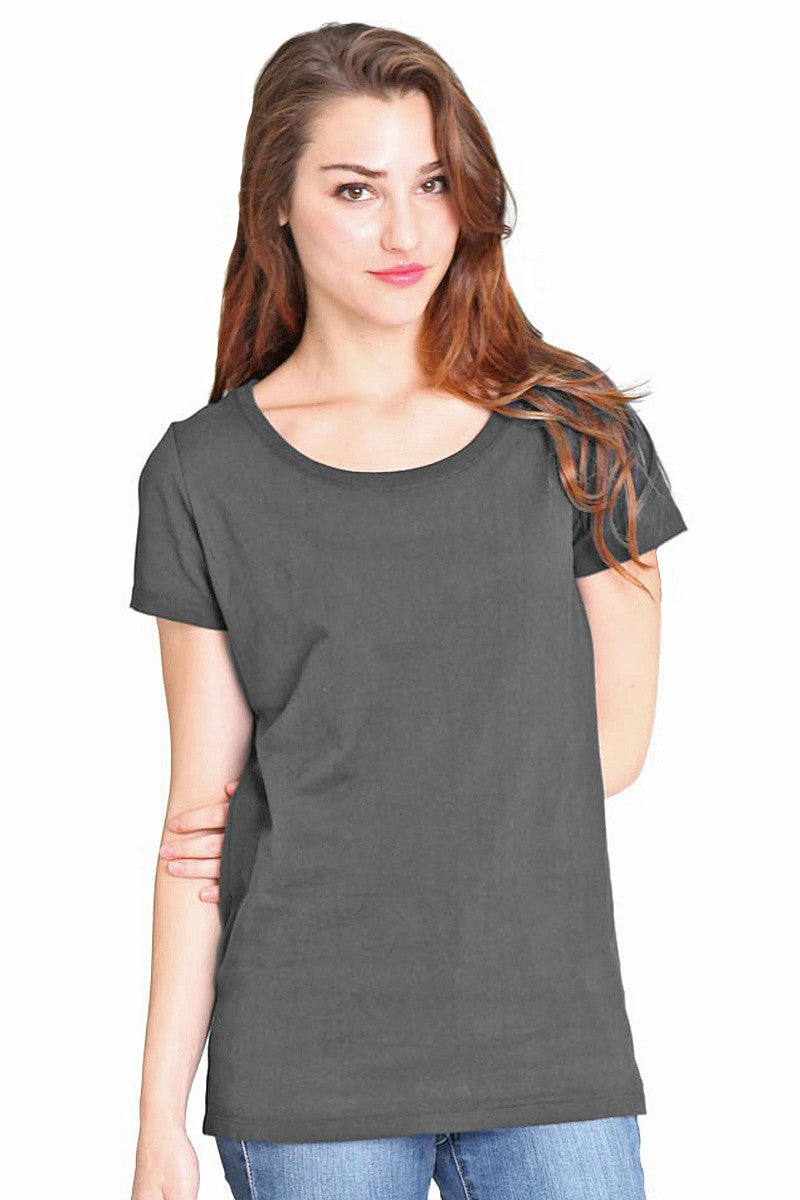 Product Image - Ladies' Scoop Neck T-Shirt - Bamboo & Organic Cotton - Pewter Grey - SKU: AI07-003