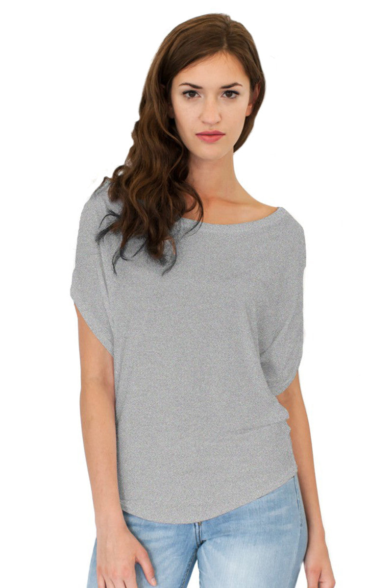 Product Image - Ladies' Poncho Top - Bamboo & Organic Cotton - Cloudburst Grey Blend - SKU: AI07-005