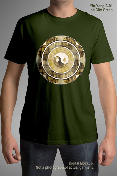 Adult Organic Cotton T-Shirt - Yin-Yang A-01 - City Green