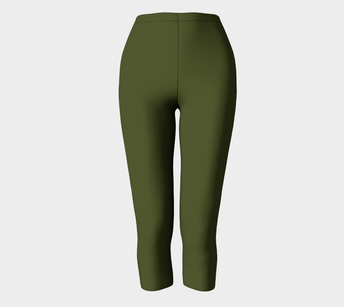 AK02-063-AP:  Capri Pants | Simply Solids™ - AggieLand Army Green