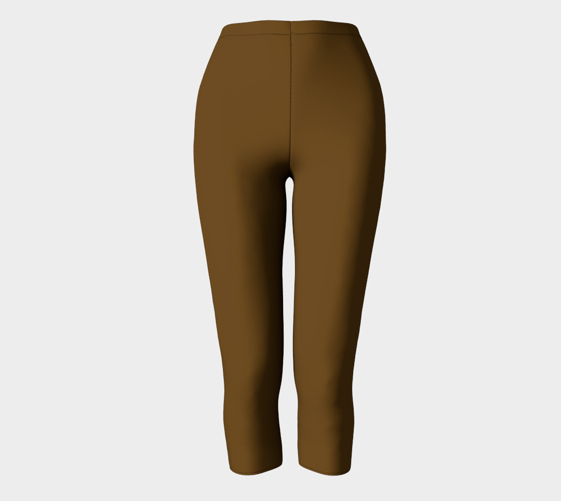 AK02-063-AM:  Capri Pants | Simply Solids™ - AggieLand Cocoa