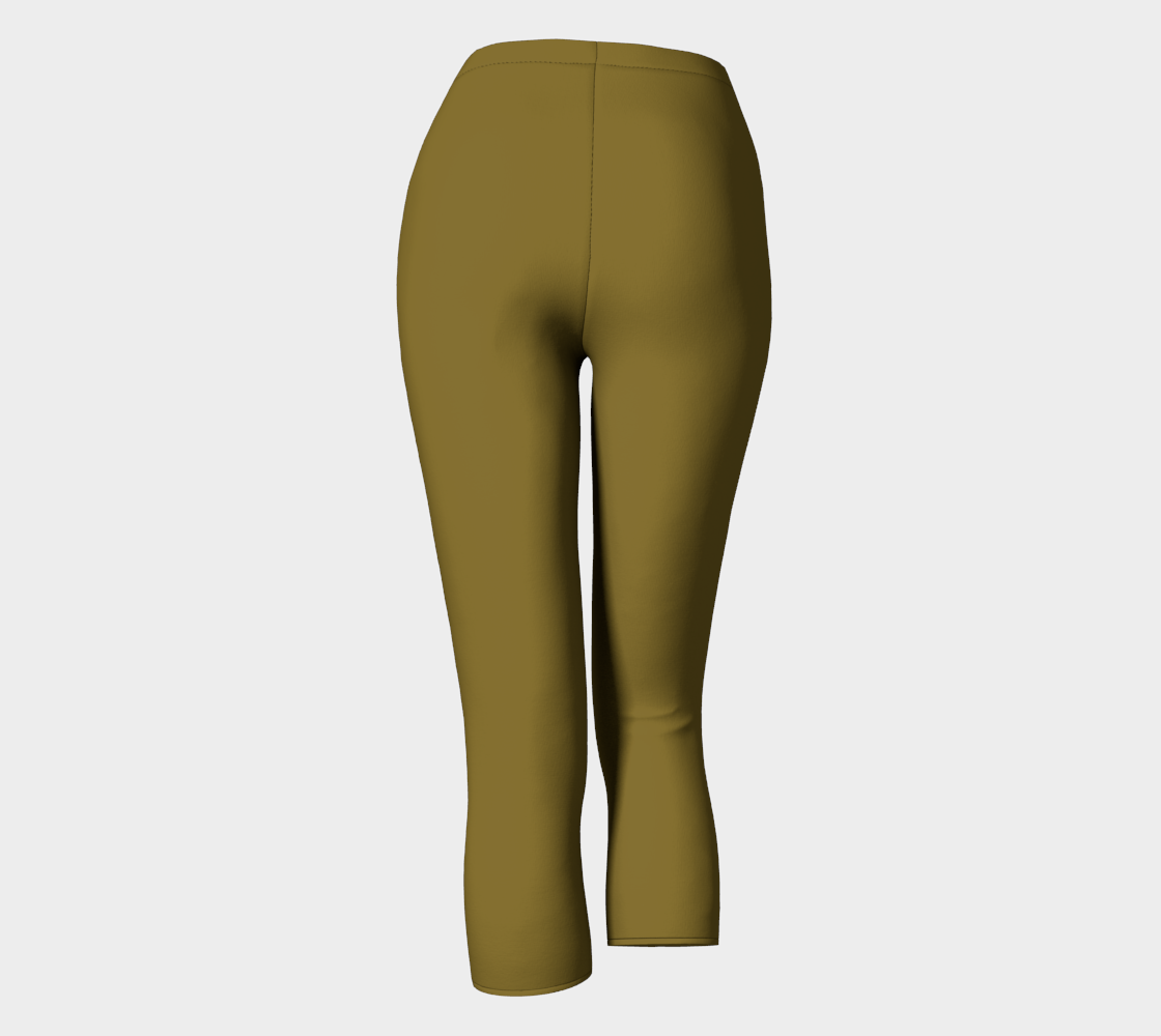 AK02-063-AM:  Capri Pants | Simply Solids™ - AggieLand Dark Olive