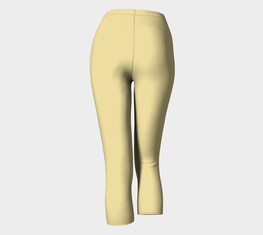 AK02-063-AC:  Capri Pants | Simply Solids™ - AggieLand Soft Yellow