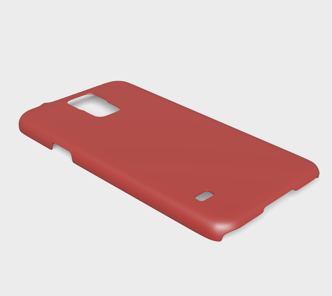 Device Case - Samsung Galaxy S5  |  Simply Solids™ • Aurora Red